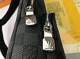 Сумка Луи Витон Avenue Sling мужская, кожаная реплика, фото 7