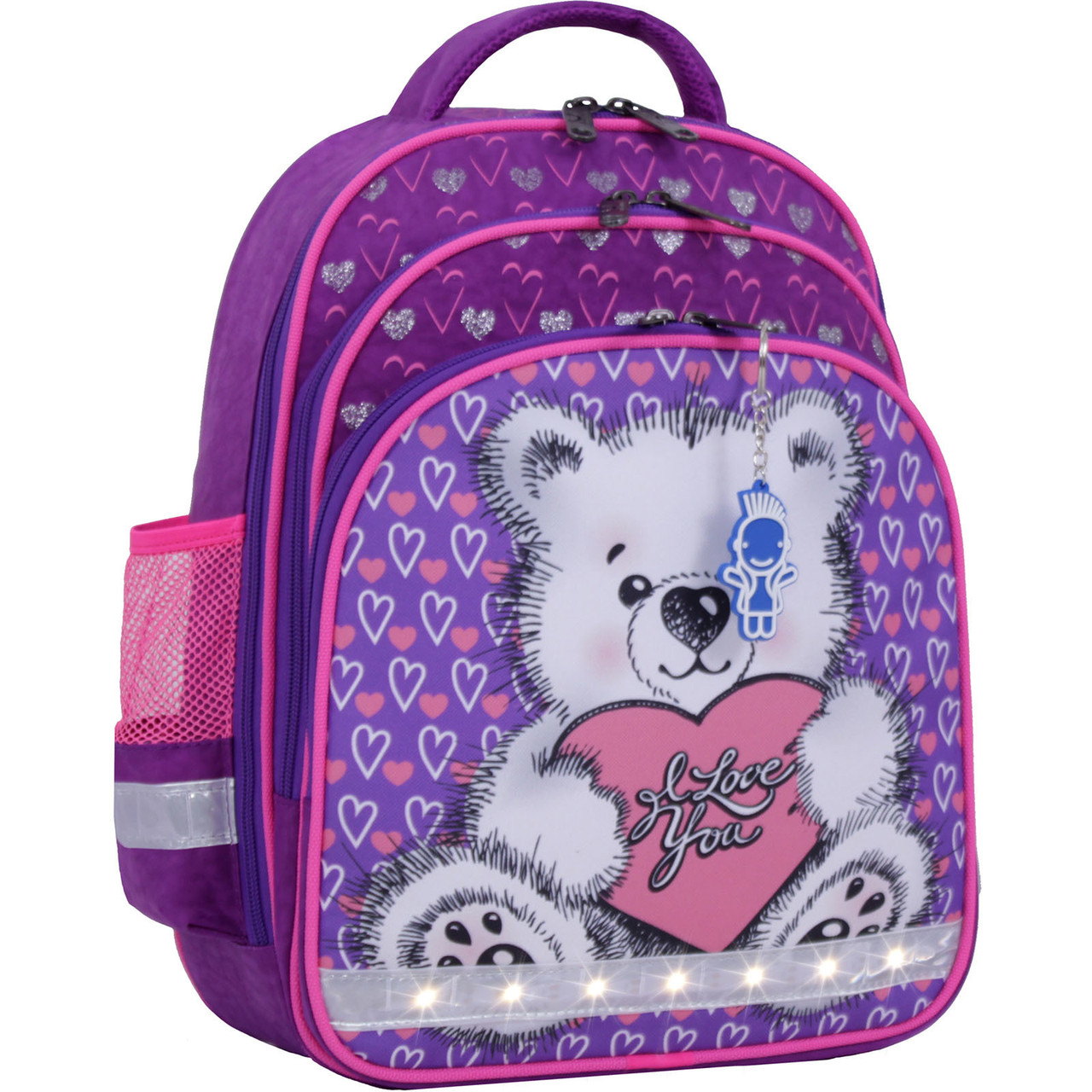 Украина Рюкзак школьный Bagland Mouse 339 фиолетовый 377 (0051370)
