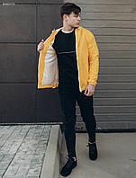 Мужская желтая ветровка Staff tas yellow , фото 1