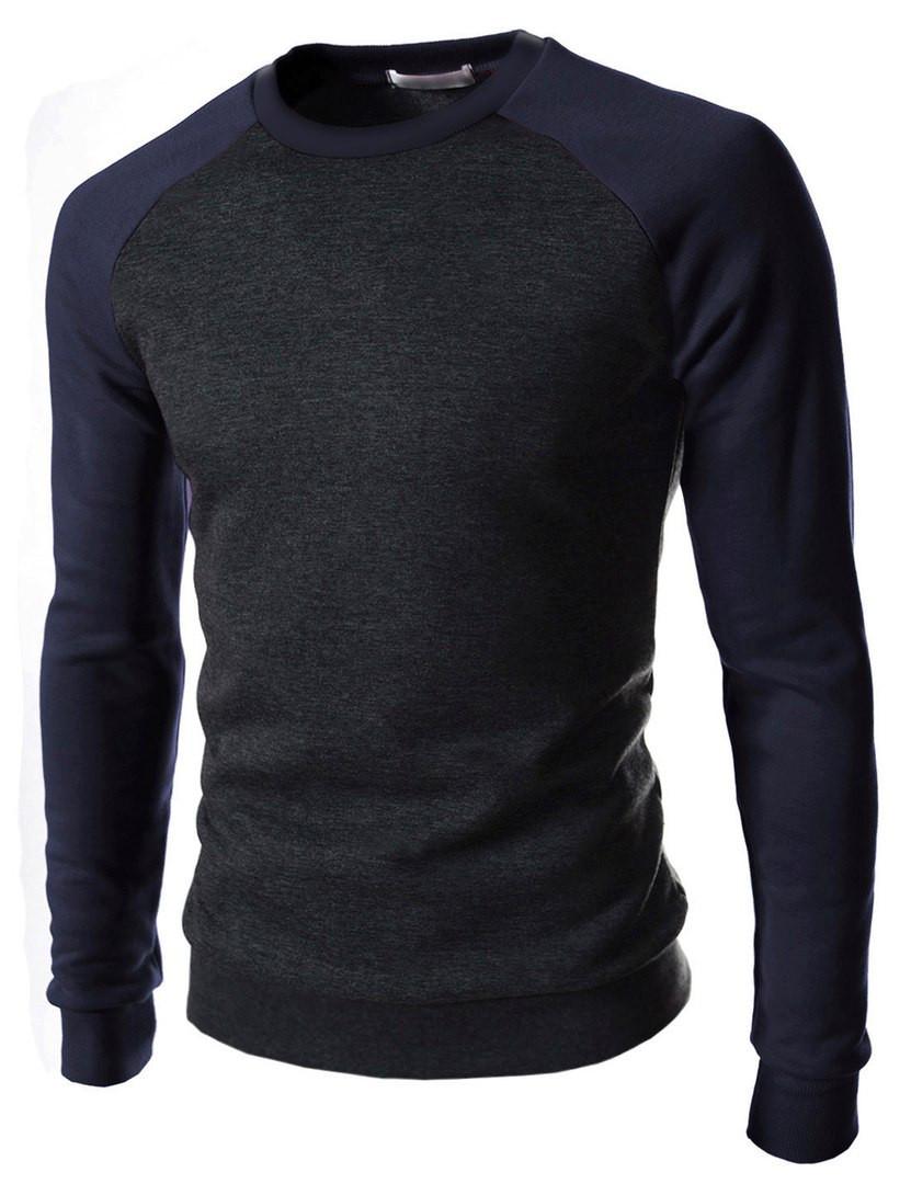 Чоловічий світшот з рукавами реглан темно-синього кольору