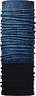 Зимовий бафф Бандана-трансформер двошаровий Джинс Чорно-синій ZBT-2f-066-1, КОД: 132028
