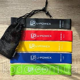 Фитнес резинки для фитнеса U-Powex из 5 лент и чехла в упаковке.