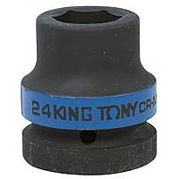 "Головка торцевая ударная шестигранная 1"" 24 мм King Tony 853524M"