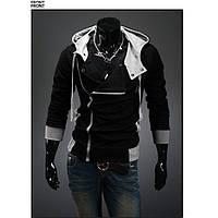 Стильная мужская толстовка утеплённая черного цвета
