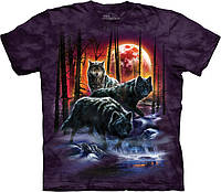 3D футболка The Mountain -  Fire And Ice Wolves