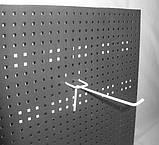 Крючок одинарный окрашенный 50 мм на перфорацию, фото 2