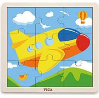 """Пазл Viga Toys """"Самолет"""" (51447)"""