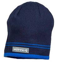 Вязаная детская шапка для мальчика Tом, темно-синий, L (55-57)