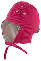 Вязаная шапка для девочки Lara, фуксия, размер M (51-53)