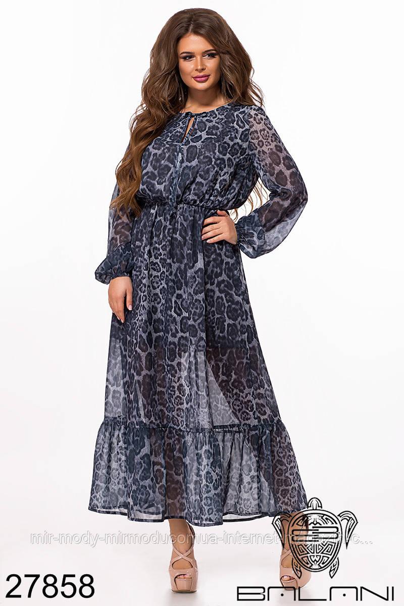Модное платье леопард - 27858 ( 2 цвета)   размер S-XL(бн)