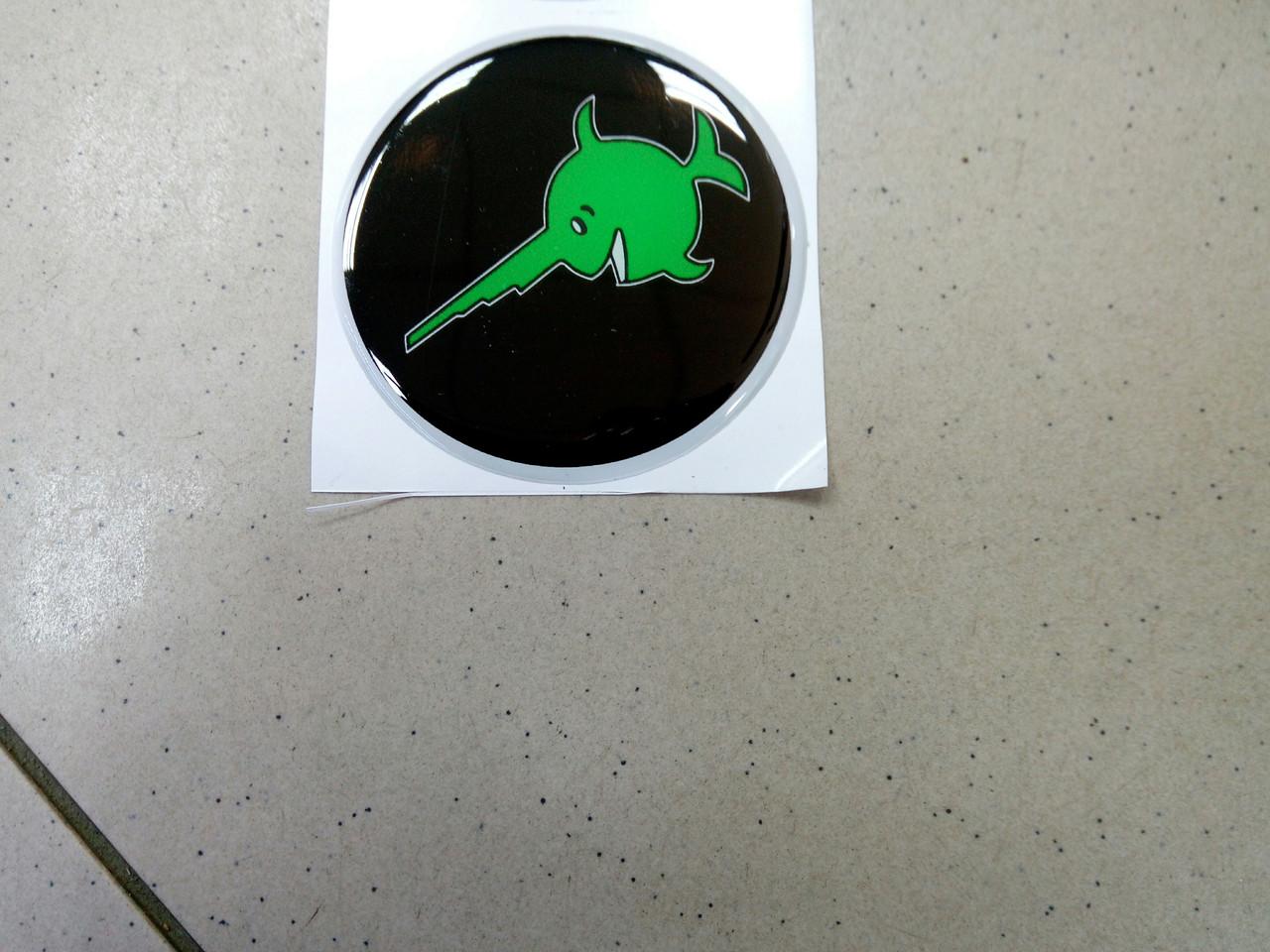 Заказ покупателя силиконовая 3D наклейка РЫБА ПИЛА  7,5 см, есть в наличии