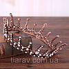 Корона круглая на голову. БЕРТА, корона мужская, мирта,  корона для венчания, фото 6