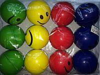 Мяч паралоновый смайлик, антистресс мячик