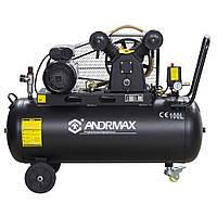 Воздушный компрессор 100 л, 2.2 кВт ANDRMAX, фото 1