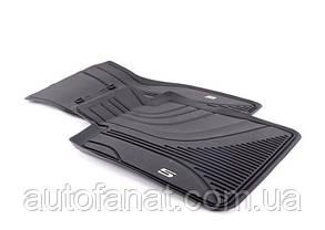 Коврики BMW 5 (G30, G31) передние оригинальные резиновые в салон (51472414218)