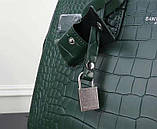 Cумка Classic Sac De Jour Ив Сен Лоран рептилия натуральная кожа  32 см, цвет изумрудный, фото 7