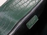 Cумка Classic Sac De Jour Ив Сен Лоран рептилия натуральная кожа  32 см, цвет изумрудный, фото 9