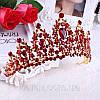 Корона, диадема РОЗАЛИЯ высокая тиара красная, свадебная диадемы украшения, фото 2