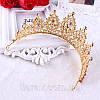 Корона, диадема РОЗАЛИЯ высокая тиара красная, свадебная диадемы украшения, фото 9