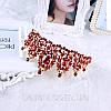 Корона, диадема РОЗАЛИЯ высокая тиара красная, свадебная диадемы украшения, фото 7