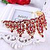Корона, диадема РОЗАЛИЯ высокая тиара красная, свадебная диадемы украшения, фото 8
