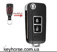 Корпус ключа Kia Sportage, Sorento, Forte, Cerato( Киа Спортейдж) под переделку брелка и ключа,2 кнопки, фото 1