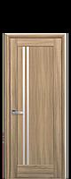Дверное полотно Делла Золотой Дуб со стеклом сатин