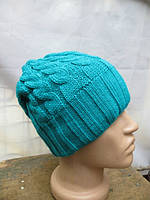 Зимняя женская шапка - голубая