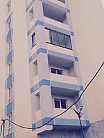 Балконная рама с боковым окном ЖК Акварель Rehau стеклопакет 4/16/4, фото 1
