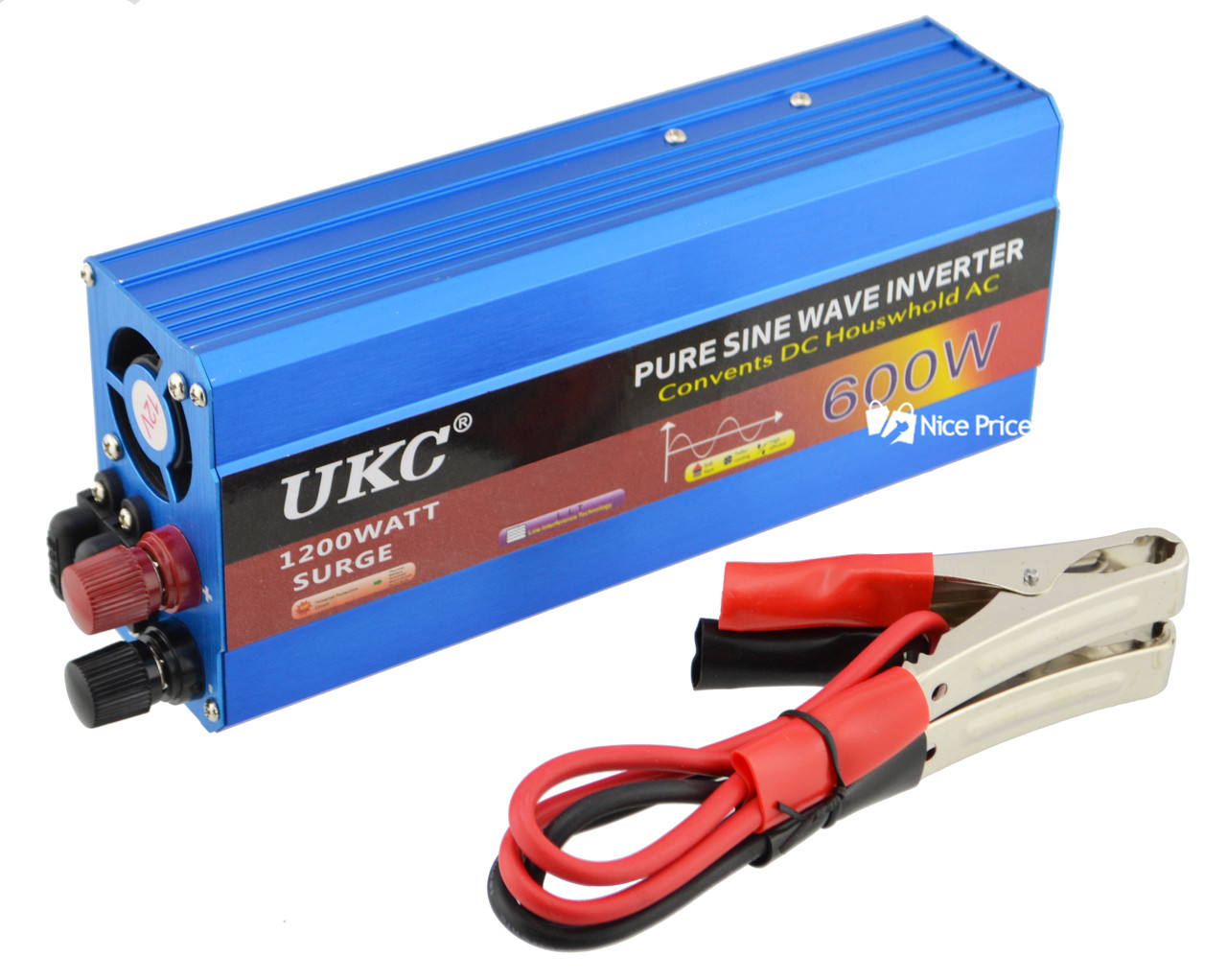 Преобразователь напряжения(инвертор) UKC 12-220V 600W с чистой синусоидой (2604)