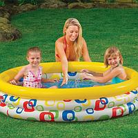 Детский круглый надувной бассейн.Детский наливной бассейн.Бассейн надувной игровой.