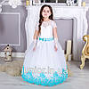 """Красивое бальное платье в пол для девочки """"Бархат"""" 4-5л"""