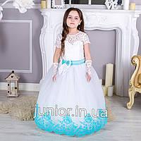 """Красивое бальное платье в пол для девочки """"Бархат"""" 4-5л, фото 1"""