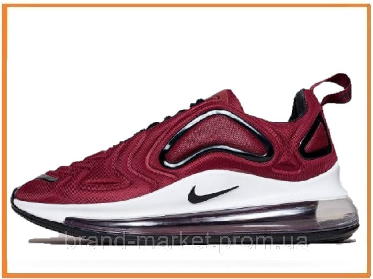 e5c9ca59 Мужские кроссовки Nike Air Max 720 Red White (Найк Аир Макс 720, бордовые /