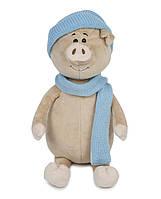 Свин Бен с шарфом и шапкой, 22 см, Maxitoys Luxury, фото 1