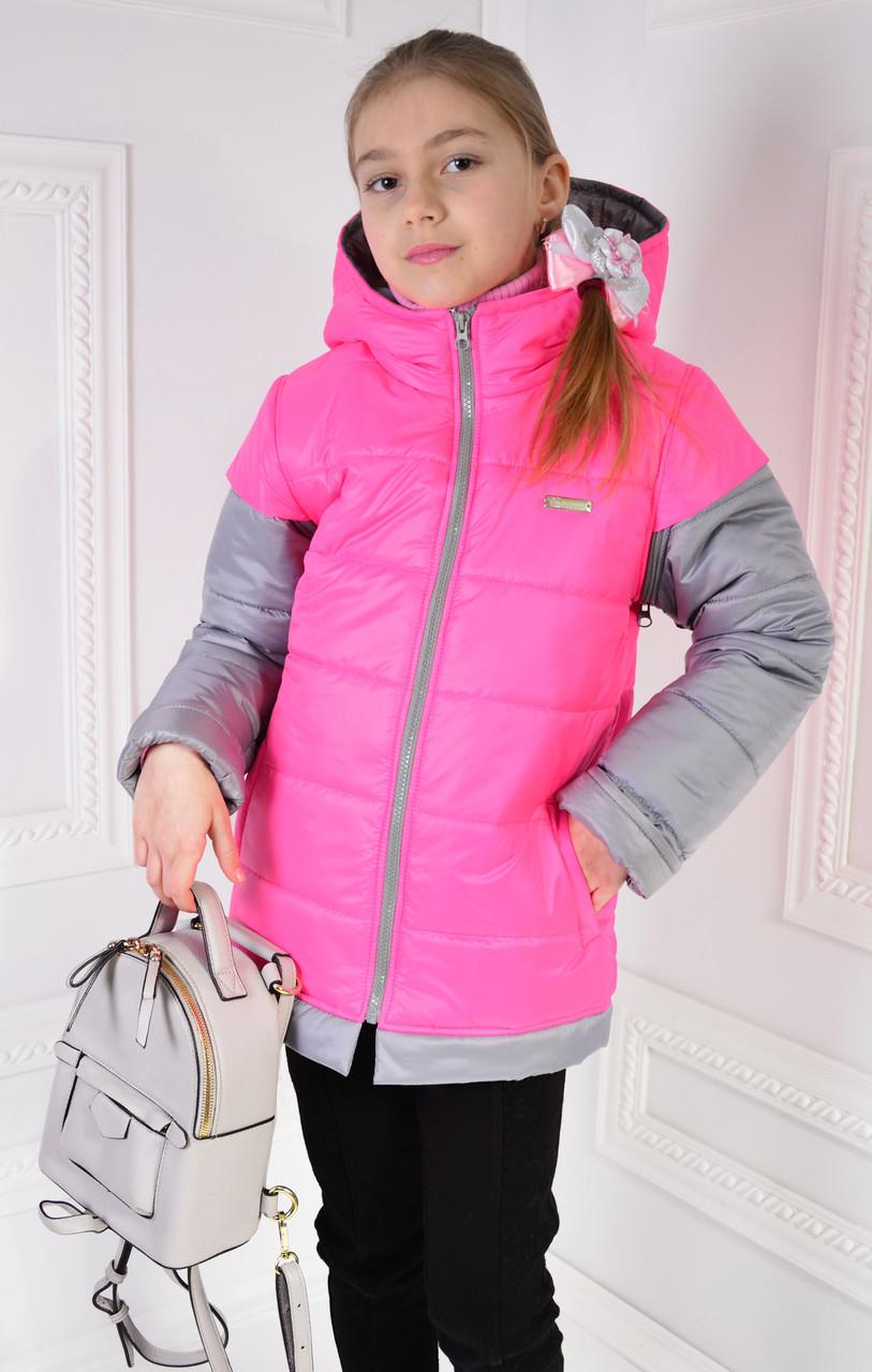 """Куртка-жилетка на девочку """" АЛИСА""""  размер 122,128"""