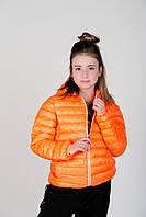 Демисезонная, Модная Ветровка Детская Оранжевого Цвета С КапюшономMEK, Италия.