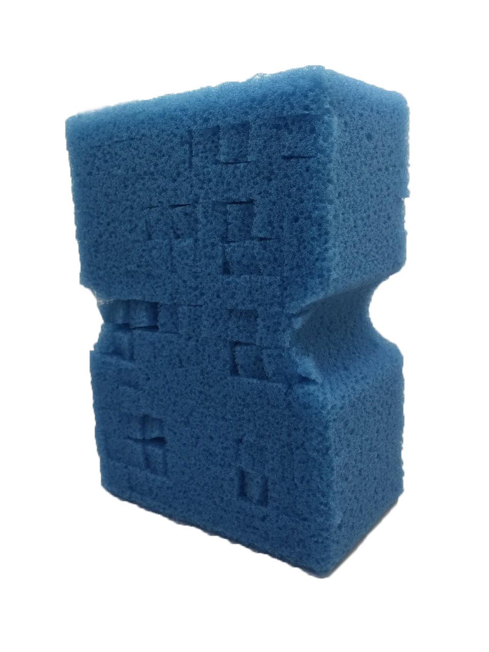 Пористая поролоновая губка для пенных шампуней - Lake Country Big Blue Wash Sponge 76×127×178 мм (99-BIG BLUE)