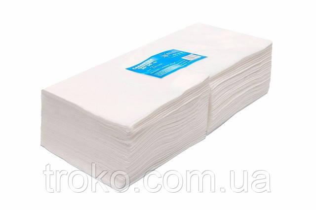 ТЕХНОКОМПЛЕКС Салфетки 40*20см спанлейс, 40г/м кв.,сетчатая стр., белые, 100 шт/уп
