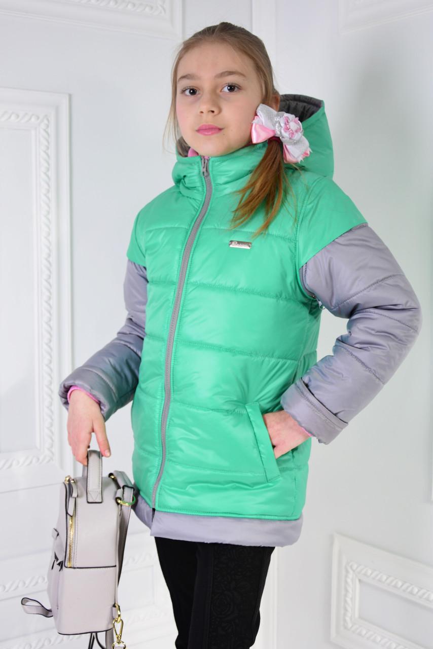 """Куртка демисезонная 2 в 1 """" АЛИСА"""" 122."""