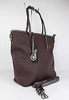 Большая мягкая женская сумка Tommasini 332 темно-коричневая, Италия, фото 1