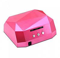 Гибридная сенсорная лампа Diamond Led+Ccfl для маникюра 36Вт, pink