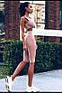 Женский костюм топ и велосипедки из бифлекса, фото 5