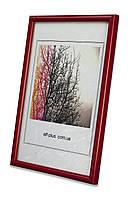 Фоторамка из пластика Красный яркий - для грамот, дипломов, сертификатов, фото, вышивок!
