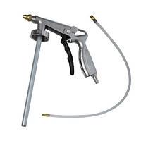 Пистолет под гравитекс пневматический с гибкой насадкой INTERTOOL