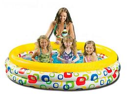 Бассейн надувной с геометрическим узором.Детский надувной бассейн.