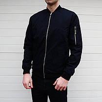 Куртка бомбер мужская черного цвета, фото 2