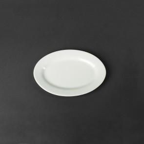 Блюдо для сельди, селедочница фарфоровая Helios 225х160 мм. A1405