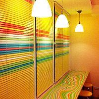 Горизонтальные цветные алюминиевые жалюзи 16 мм