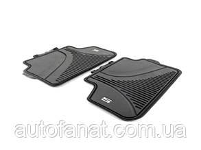 Оригинальные коврики BMW 5 (G30, G31) задние резиновые в салон (51472414219)